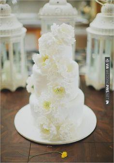 gorgeous white wedding cake | CHECK OUT MORE IDEAS AT WEDDINGPINS.NET | #weddingcakes