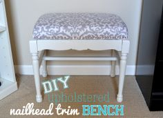 RookieDIY: Upholstered Bench with Nailhead Trim ~ DIY Playbook