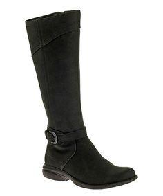 Look at this #zulilyfind! Black Captiva Buckle-Up Leather Boot #zulilyfinds