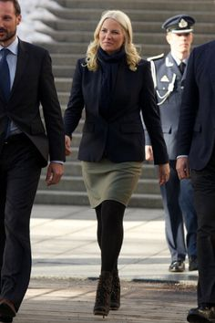 Princess Mette-Marit of Norway attends the Resources gone astray conference at Astrup Fearnley Museum on 25 Feb 2013