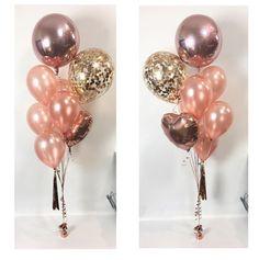 Traumhaft schöne Ballons in rosa glänzend für den JGA Junggesellinnenabschied.