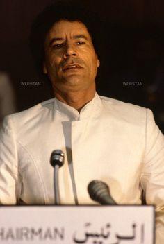 Gaddafi in white