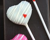 Love heart cake pop