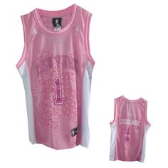 Women New York Knicks #1 Amare Stoudemire Pink Jersey