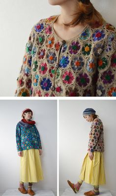 Crochet Coat, Crochet Jacket, Crochet Cardigan, Crochet Granny, Crochet Shawl, Crochet Clothes, Crochet Stitches, Crochet Baby, Crochet Patterns