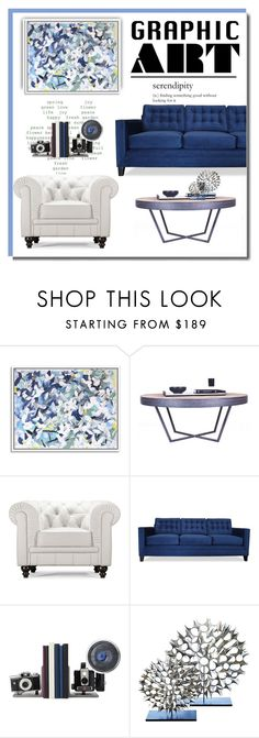 """""""Design With Graphic Art"""" by defineyourstyle ❤ liked on Polyvore featuring interior, interiors, interior design, home, home decor, interior decorating, Zuo, South Cone, Global Views and graphicart"""