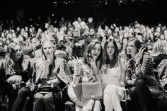 #NYFW #BCBG #bloggers #frontrow Left to Right: Rumi Neely of fashiontoast.com, Carolina Engman of fashionsquad.com, Chriselle Lim of thechrisellefactor.com, @Aimee Song of songofstyle.com & Chiara Ferragni of theblondesalad.com