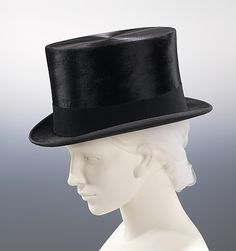 Riding Hat 1930, British, Made of fur, wool, and silk