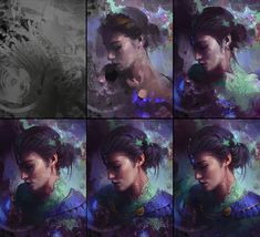 Enchanted by Aaron Griffin on ArtStation. Drawing Process, Painting Process, Drawing Studies, Art Studies, Digital Painting Tutorials, Art Tutorials, Aaron Griffin, Illustrator Tutorials, Traditional Art
