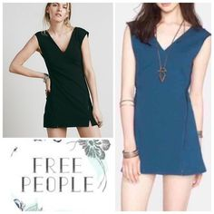 Free People Shift Dress NWT Brand new Free People knit ponte shift dress. Has edgy double side zip closures, v-neck and back, and notched front hem. Color twilight, size small. Free People Dresses Mini
