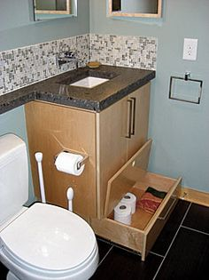 Lower Bathroom Cabinet Drawer A Step Stool It Slides Out And Has A Top So Your Child Can Use