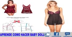 APRENDE COMO HACER BABY DOLL A MAQUINA DE COSER MUY FACIL Baby Dolls, Summer Dresses, Fashion, Templates, Beginner Sewing Projects, Learn To Sew, Sewing Tutorials, Sewing Lessons, Sewing Projects