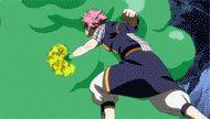 Sugarboy's slime absorbing Natsu's fire gif