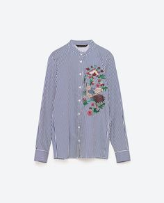 Image 8 of EMBROIDERED SHIRT from Zara