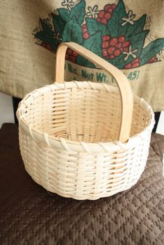 These handmade baskets from jasperjane's etsy shop are wonderful.  Have used ours for berry-picking, Easter baskets, to serve bread at the table and myriad other ways.