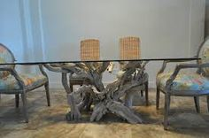 driftwood dining table - Google Search