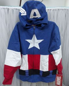 Lots in stock and cheaper than Amazon! Marvel Captain America Boys' Zippered Hoodie Sweatshirt NWT, Costume, XS (4-5) #Marvel