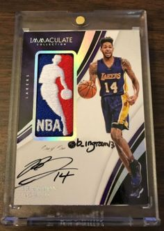 0bf3444a4000 2016-17 Panini Immaculate Brandon Ingram RC Logoman Auto 1 1 Inscription  Lakers Brandon