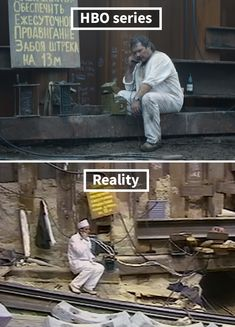 Side By Side Comparisons Of The Real Chernobyl Vs. The HBO Version Of It pics) Seite an Seite Vergleiche der realen Tschernobyl vs. Chernobyl 1986, Chernobyl Disaster, Fukushima, Side By Side Comparison, Chernobyl Nuclear Power Plant, Francis Picabia, Cartoon Tv Shows, Wings Of Fire, History Projects