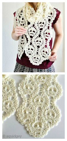 Crochet scarves 820288519612057474 - Lost Souls Skull Scarf Free Crochet Pattern Source by augiervanessa Crochet Skull Patterns, Crochet Headband Pattern, Knitting Patterns, Crochet Scarves, Crochet Shawl, Crochet Clothes, Knitted Shawls, Crochet Crafts, Crochet Projects