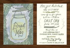 Our Wedding Invitations Illustrated by Tuesday Bassen!