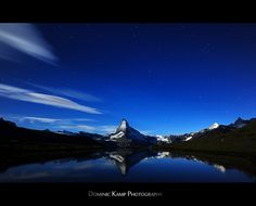 Lake Stelli reflecting Matterhorn, Zermatt, Switzerland.