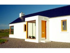 Hillside Cottage - design by award winning practice Cox Power Architects, Westport, Co. Mayo Contact us on 098 26180 Irish Cottage, Old Cottage, Modern Cottage, Cottage House Plans, Cottage Homes, Modern Bungalow House, Rural House, Barn Renovation, Cottage Renovation