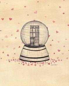 Hearting Lisa Chow illustrations using hearts