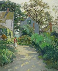 """""""The Garden,"""" Pauline Palmer, oil on canvas, 32 x 26"""", private collection."""