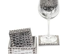 Z Gallerie - Everglades Coasters - Set of 4 Silver