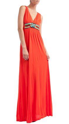 V Neck Jersey Maxi Dress by Manoush :)
