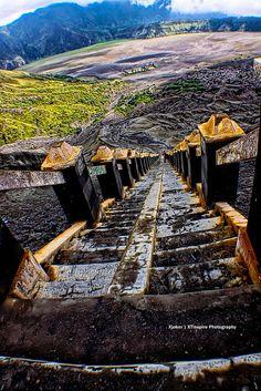 Stairways to Mt Bromo. | Flickr - Photo Sharing!