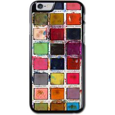 Vintage Paint Box iPhone 6/6S Hard Case (4.7 Inch) Black - SnapMade (€31) ❤ liked on Polyvore featuring accessories and tech accessories