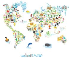World decal from Pop and Lolli. #walldecor