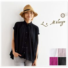【Le Melange ル・メランジュ】ミラー 刺繍 半袖 ブラウス (6713212)