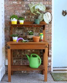 Potting or Party, This Bench is Busy -- Hi Sugarplum