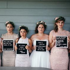 I can't really see another squad tryna' cross them. This bridal mugshot is spot on   Letterfolk : @laurenemilyallen @cassierosch
