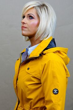 Barbour Trevose Jacket in Bright Canary Yellow - Smyths Country Sports Yellow Rain Jacket, Navy Stripes, Barbour, Red Color, Canada Goose Jackets, Windbreaker, Winter Jackets, Bright, Country