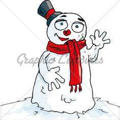 Cartoon of waving snowman with a scarf. Isolted on white Christmas Cartoon Pictures, Christmas Cartoons, Cartoon Pics, Snowman, Snow White, Disney Characters, Fictional Characters, Waves, Disney Princess
