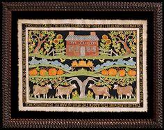 """Scherenschnitte  by artist, Pamela Dalton - """"Thou dost cast the grass to grow..."""""""