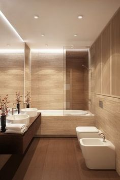 Bathroom, minimalistic interior design. Biarti.ru + MyHome.ru