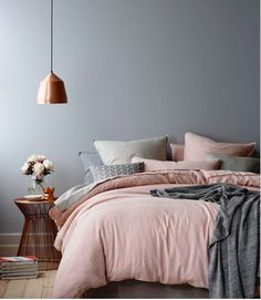 Bedroom Makeover: Sculpted Shag to Modern Blush Pink and Gray | Julia O'Malley