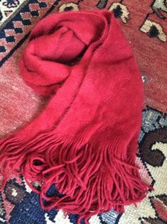 6538fd9fe Soft Lucky Brand Scarf Red Basic And Perfect For A Pop Of Color  fashion