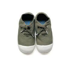 BENSIMON  Laced up canvas tennis shoes