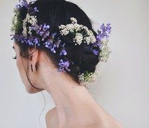 Inspiring image beauty, flower crown, flowers, gothic, hair, johanna herrstedt, nature, purple, spring, summer #3078695 by marine21 - Resolution 640x634px - Find the image to your taste