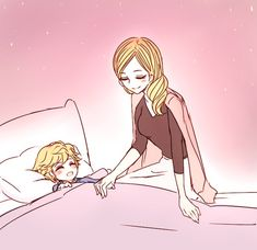 Adrien and mother bonding time~ (Miraculous Ladybug, kid)