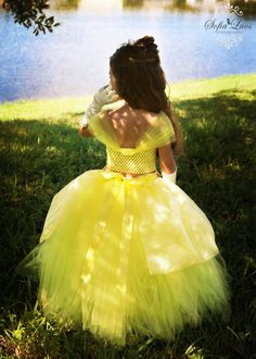 Items similar to Belle Inspired Tutu dress.Perfect for Halloween,Dress up and Photo prop on Etsy Belle Dress Up, Belle Tutu, Princess Belle Dress, Princess Dresses, Tutu Outfits, Girls Tutu Dresses, Little Girl Dresses, Flower Girl Dresses, Halloween Costume 1 Year Old