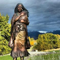 Salmon (north central) is the home of the Sacajawea Center. This museum celebrates the contributions of Sacajawea, a Lemhi-Shoshone woman who served as an interpreter for Lewis & Clark across the Bitterroot Mountains.  Photo by Jacob Haeberle.