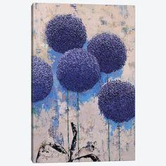 Allium II Canvas Art Print by Olena Bogatska   iCanvas Oil Painting On Canvas, Canvas Artwork, Canvas Art Prints, Paintings For Sale, Original Paintings, Abstract Styles, Simple Art, Lovers Art, Fine Art Paper