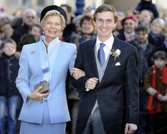 Miss Honoria Glossop:  Archduke Christoph of Austria and his mother Princess Marie-Astrid of Luxembourg at his religious wedding to Adelaide Drape-Frisch, December 29, 2012